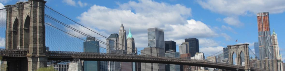 Brooklyn Bridge from park